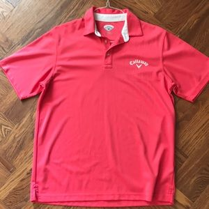 Men's Callaway Pink Golf Polo